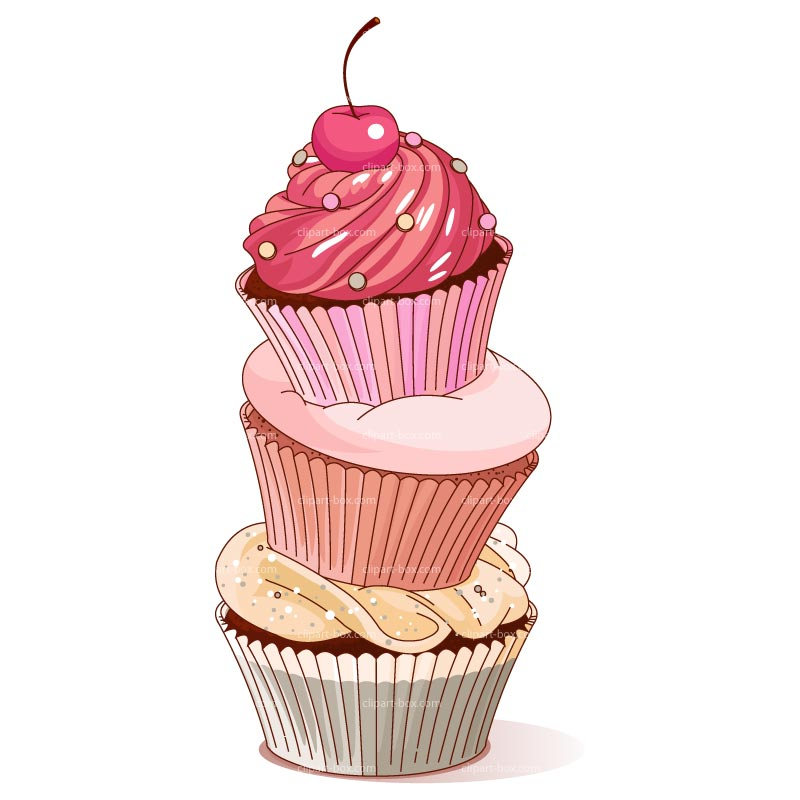 Free pink cupcake download. Desserts clipart tower