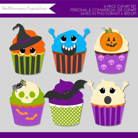 Cupcake clipart monster. Halloween clip art