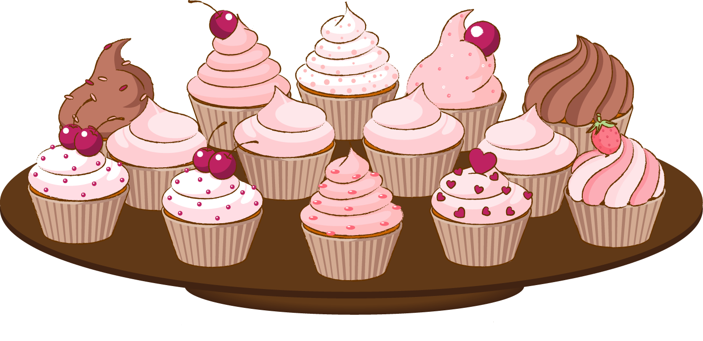 Muffins clipart ckae. Cakes and cupcakes muffin