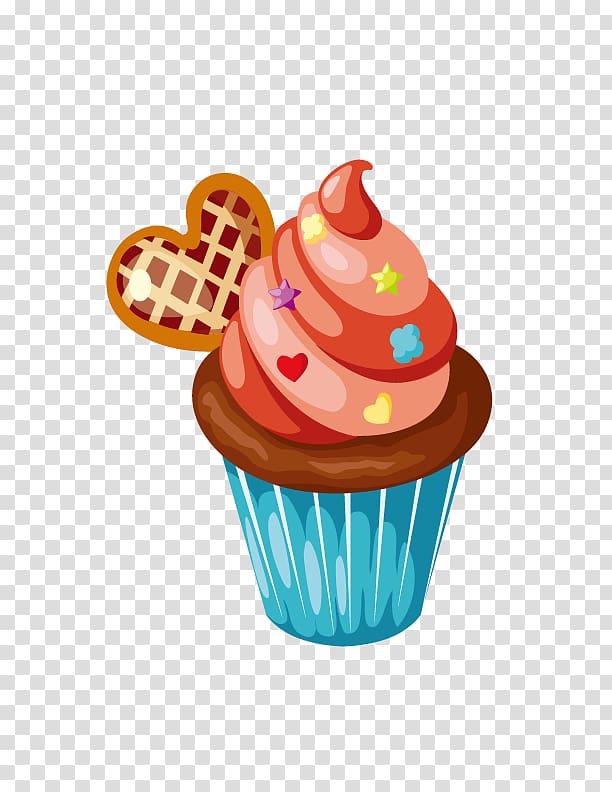 Cupcake tart heart chocolate. Muffin clipart cake and ice cream