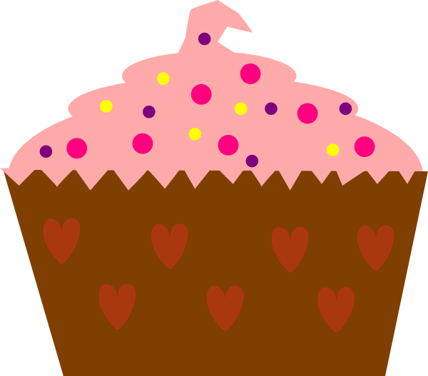 Cupcakes with sprinkles panda. Muffins clipart cupcake hello kitty