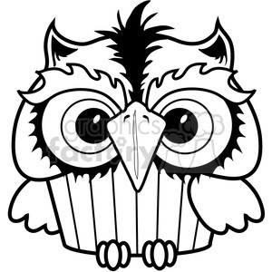 Royalty free . Owl clipart cupcake
