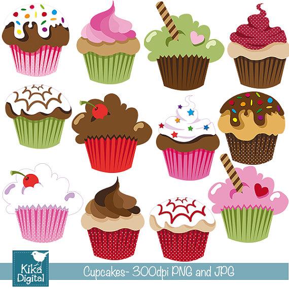 Cute cupcakes clip art. Cupcake clipart scrapbook