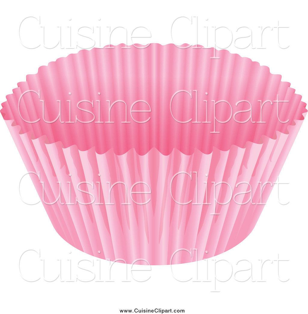Cuisine of a pink. Clipart cupcake paper