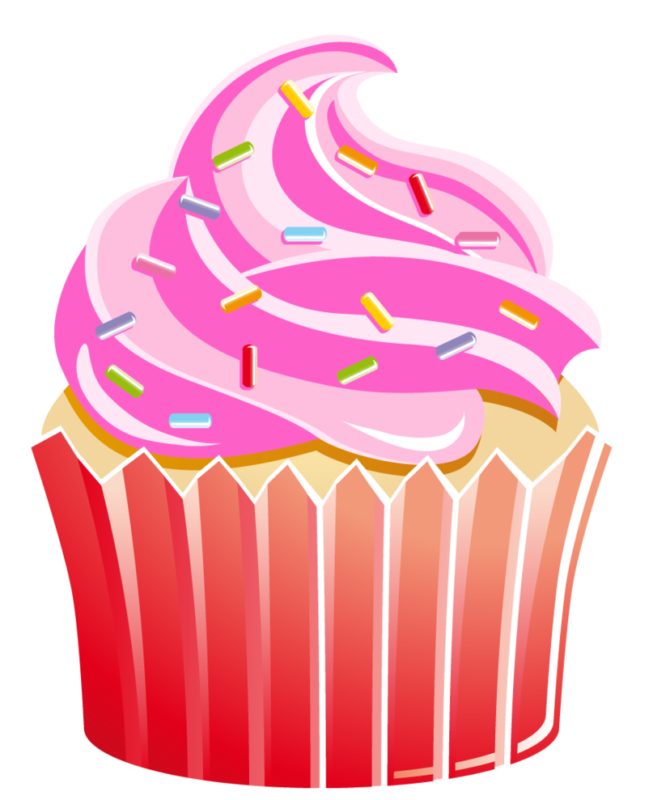 Clipart cupcake rose. Free cup cake images