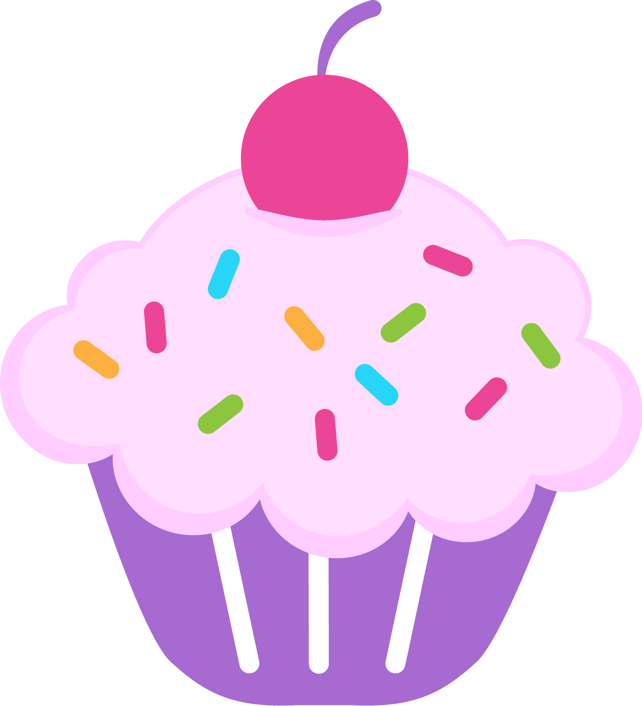 Cupcakes clipart april. Cute birthday cupcake lacalabaza