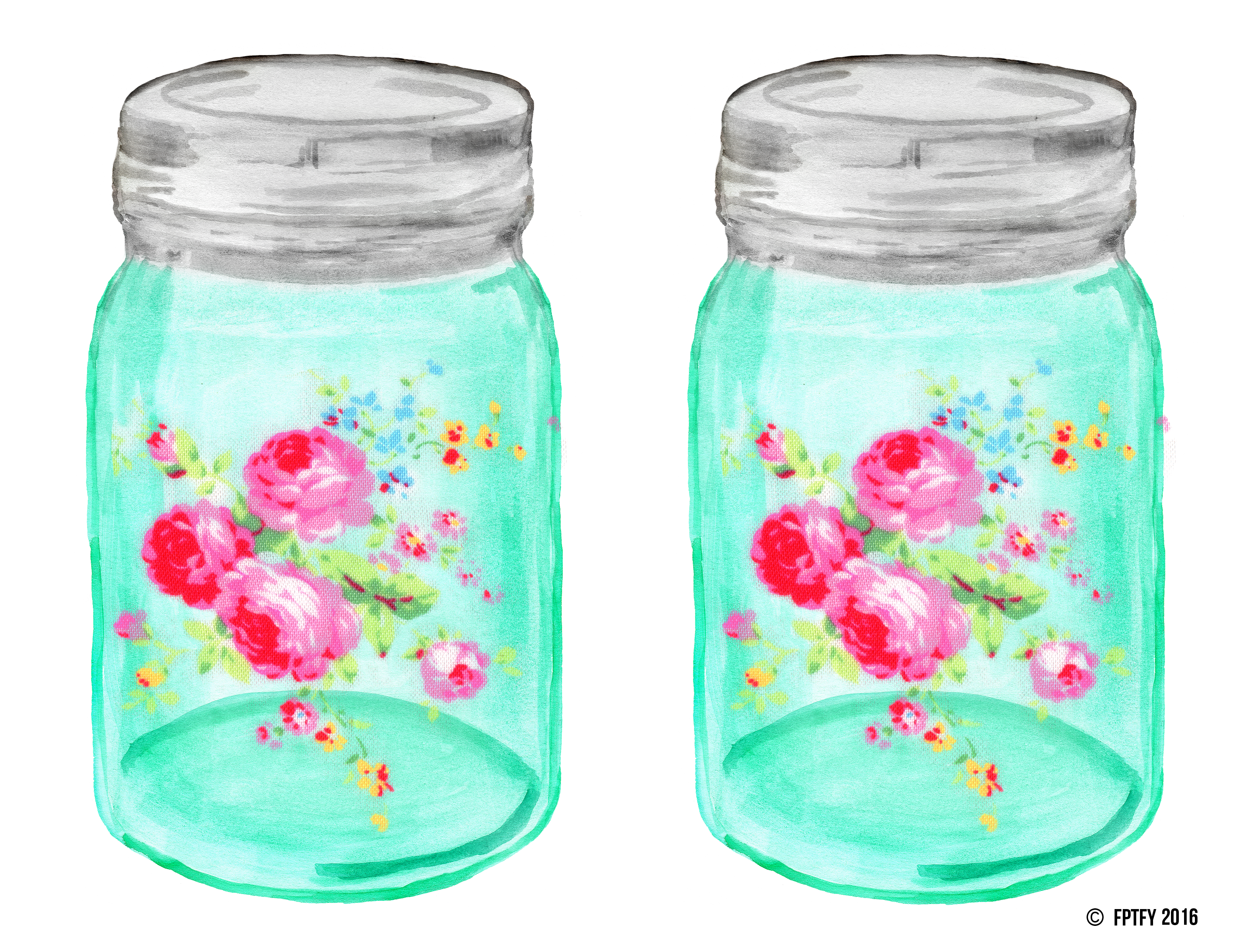 Shabby chic mason ball. Perfume clipart canning jar