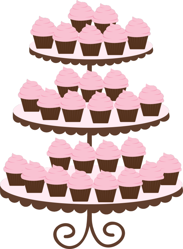 Cupcake vector bulletin boards. Desserts clipart cake decorator