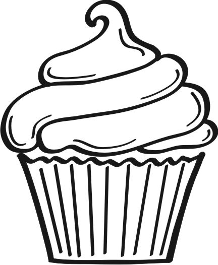 Free download clip art. Clipart cupcake silhouette