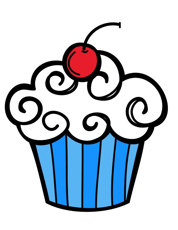 A picture of free. Cupcake clipart kid
