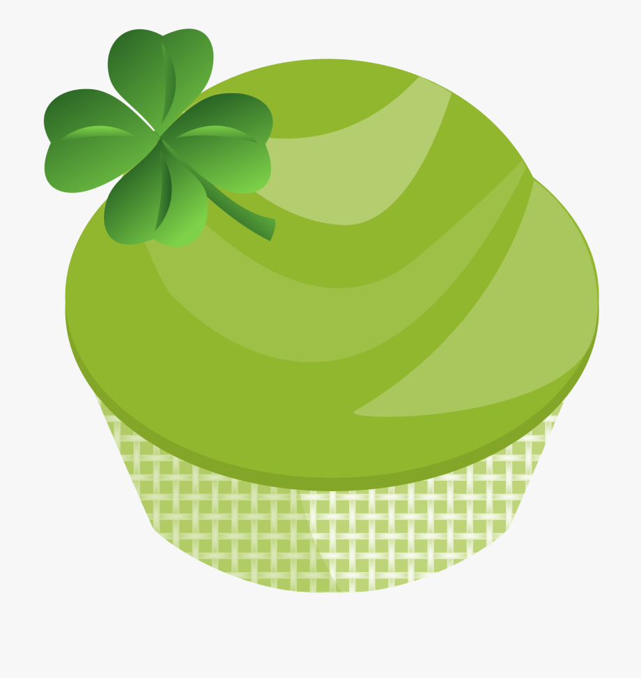 Green patricks . Cupcake clipart st patrick day