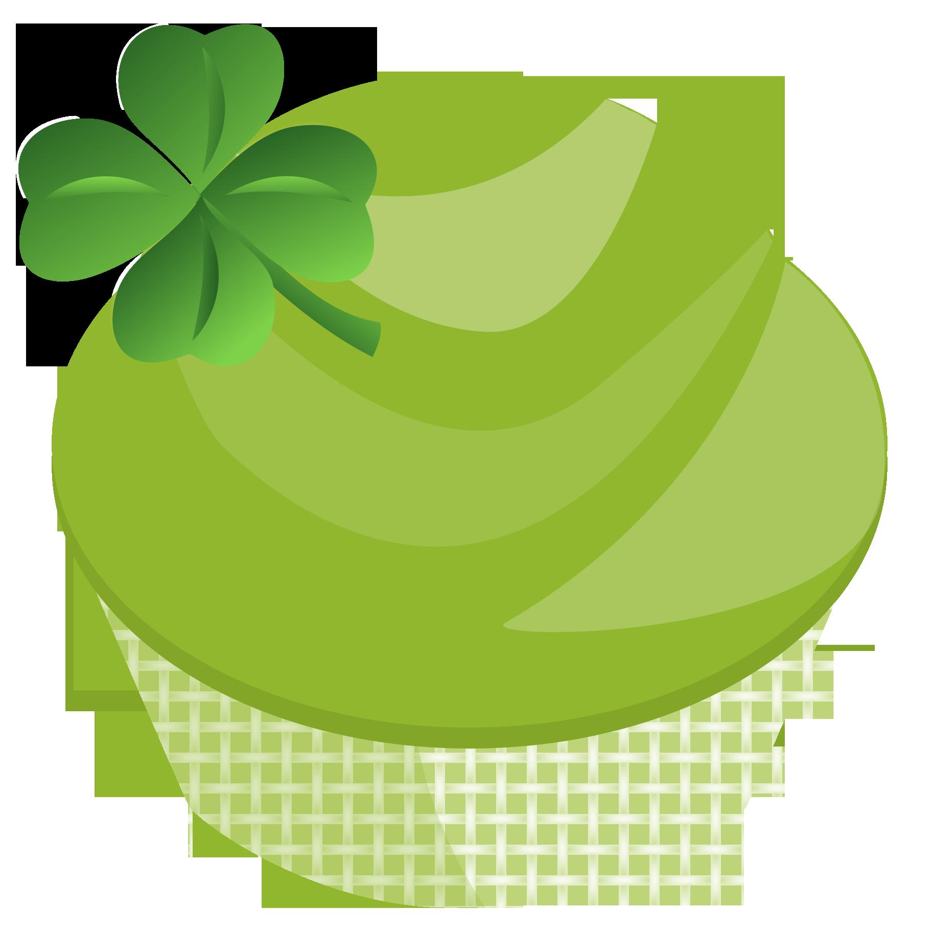 Cupcake clipart four. Cake st patricks day