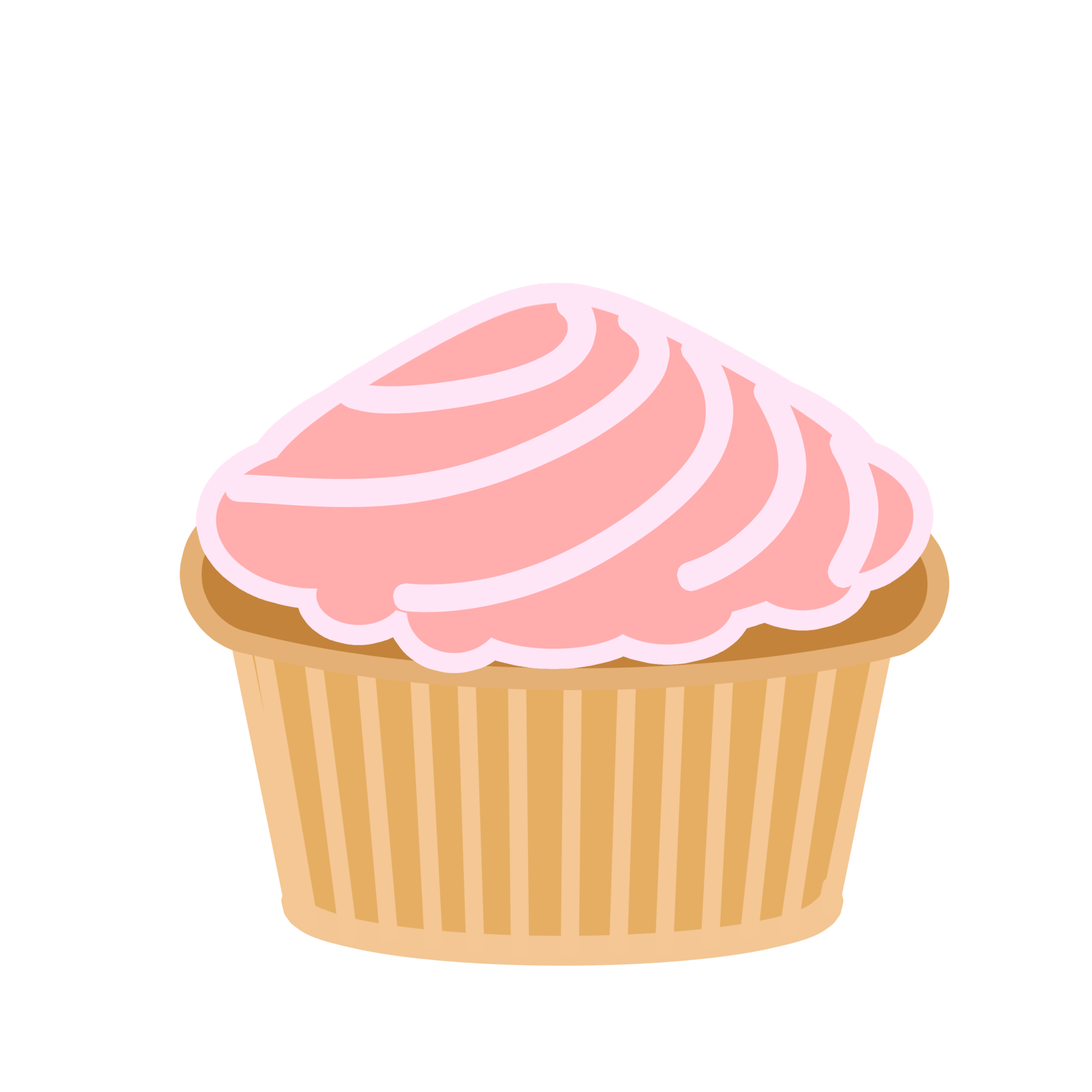 Pink swirl cupcake by. Desserts clipart animation