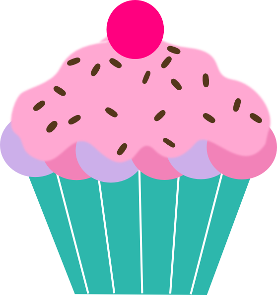 Cupcake clipart slice. With sprinkles