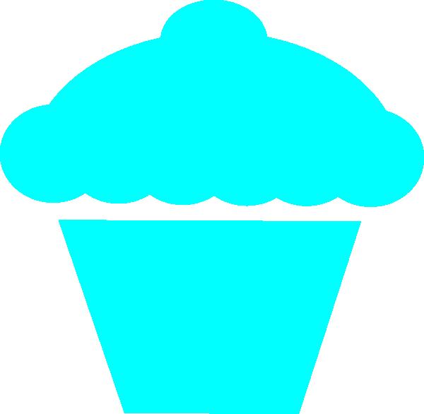 Muffin clipart muffin pan. Cupcake teal clip art