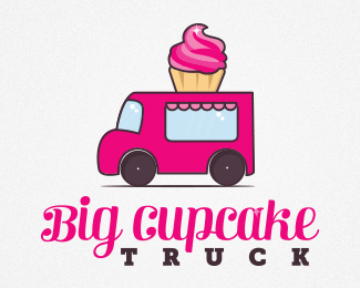 Clipart cupcake truck. Logopond logo brand identity