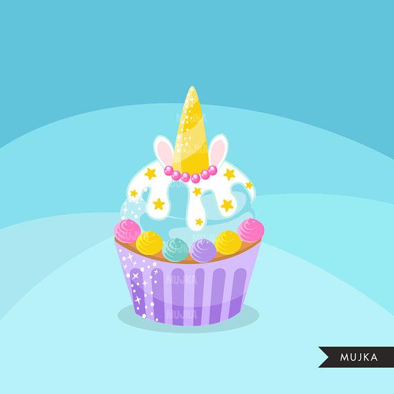 Muffin clipart rainbow cupcake. Unicorn cupcakes baking cake