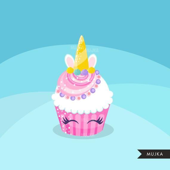 Clipart unicorn cupcake. Rainbow cupcakes baking cake