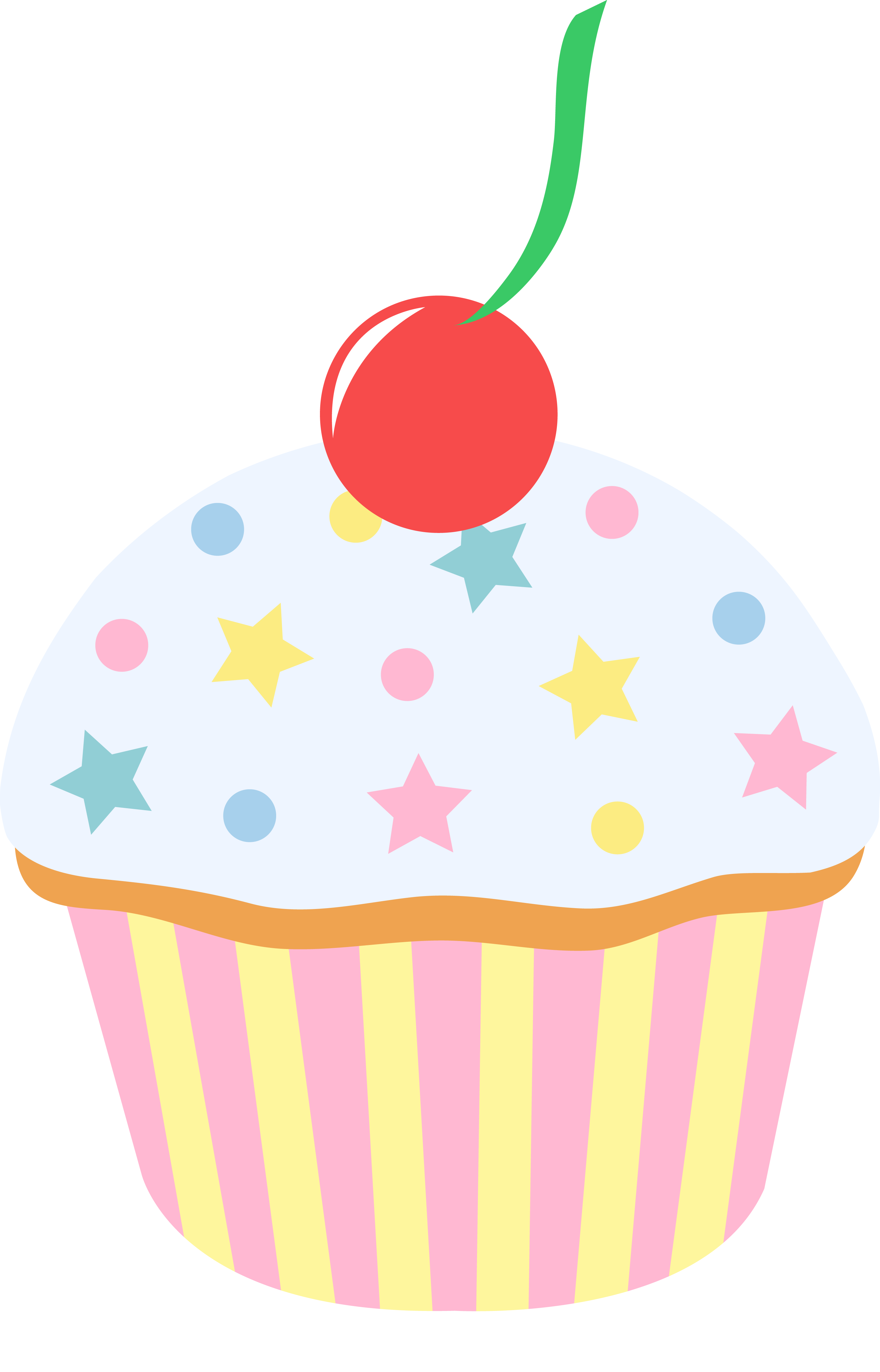 Clipart cupcake vanilla cupcake. White with cute sprinkles