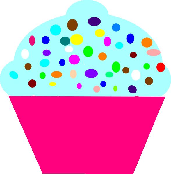 Pink clip art at. Cupcakes clipart funfetti cupcake