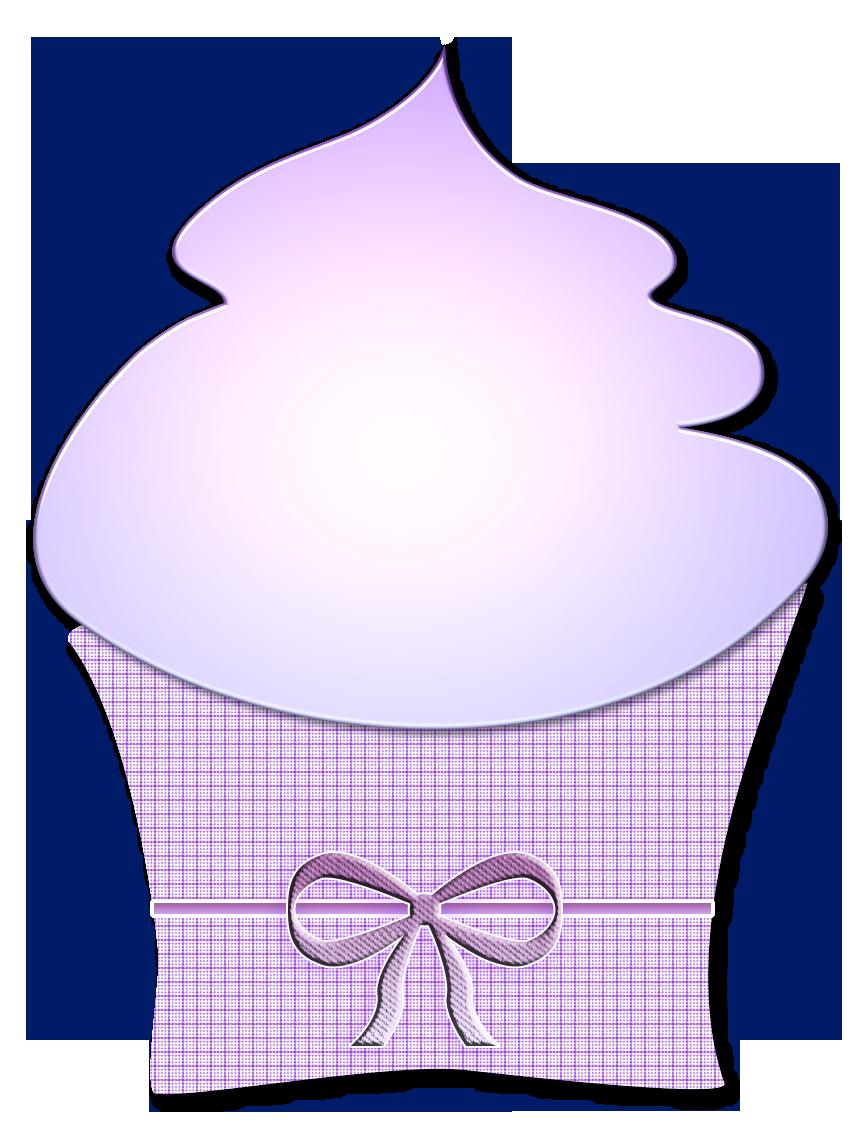 Purple ribbon cupcake clip. Cupcakes clipart violet cake