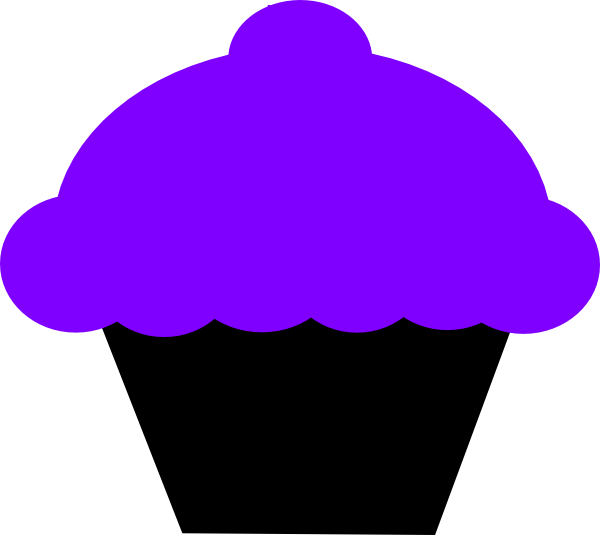 Glass clipart purple. Cupcake and black clip