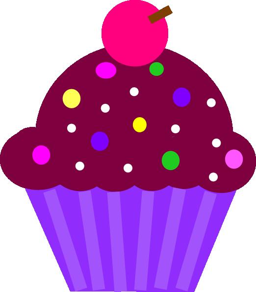 Cupcake purple clip art. Cupcakes clipart violet cake