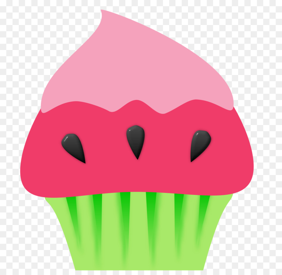Green grass background bakery. Clipart cupcake watermelon