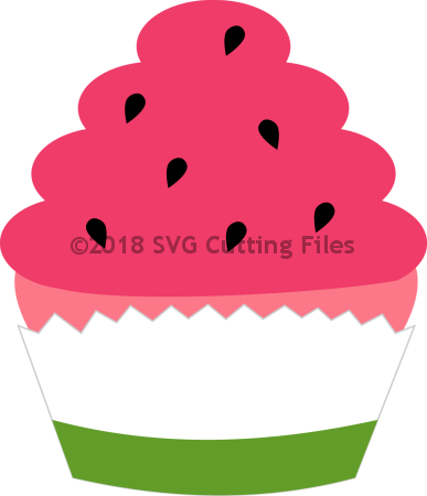 Clipart cupcake watermelon.