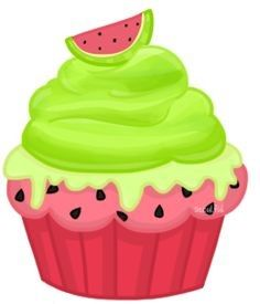 Pin on clip art. Clipart cupcake watermelon