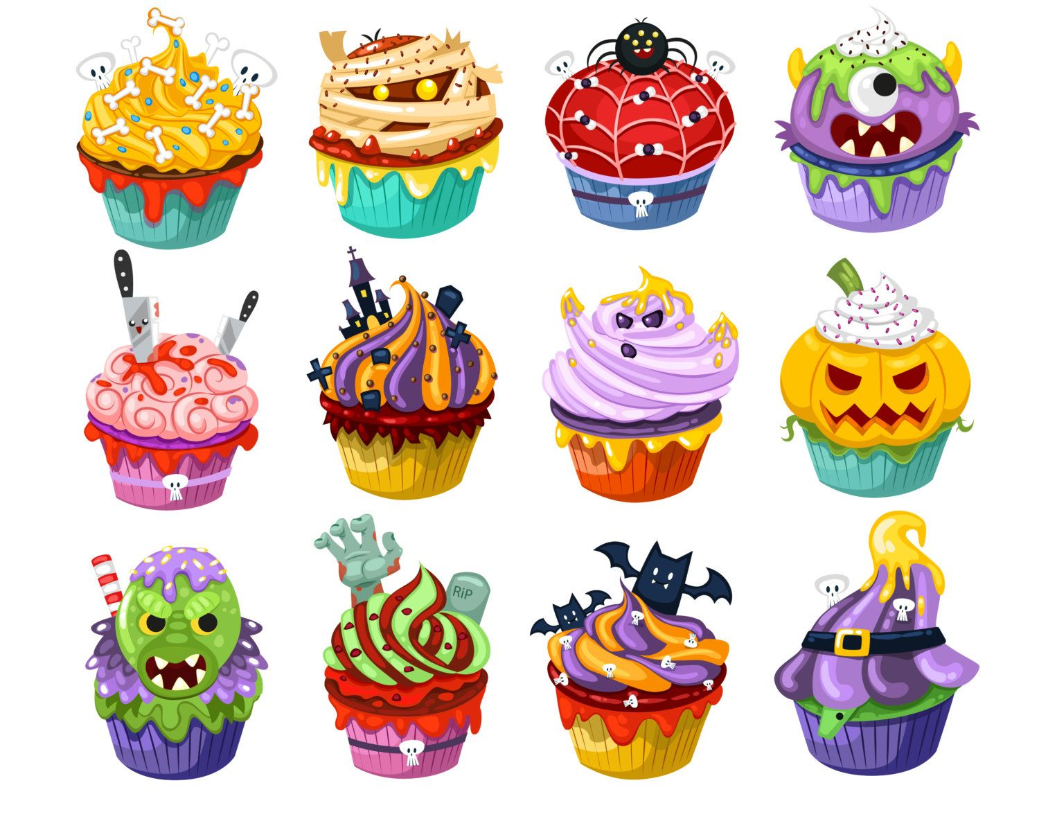 Halloween drawing yahoo image. Clipart cupcake witch