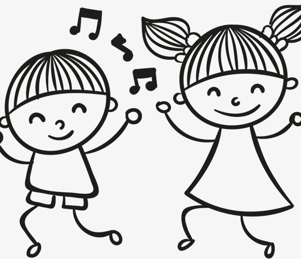 Dancing kids png . Dance clipart black and white