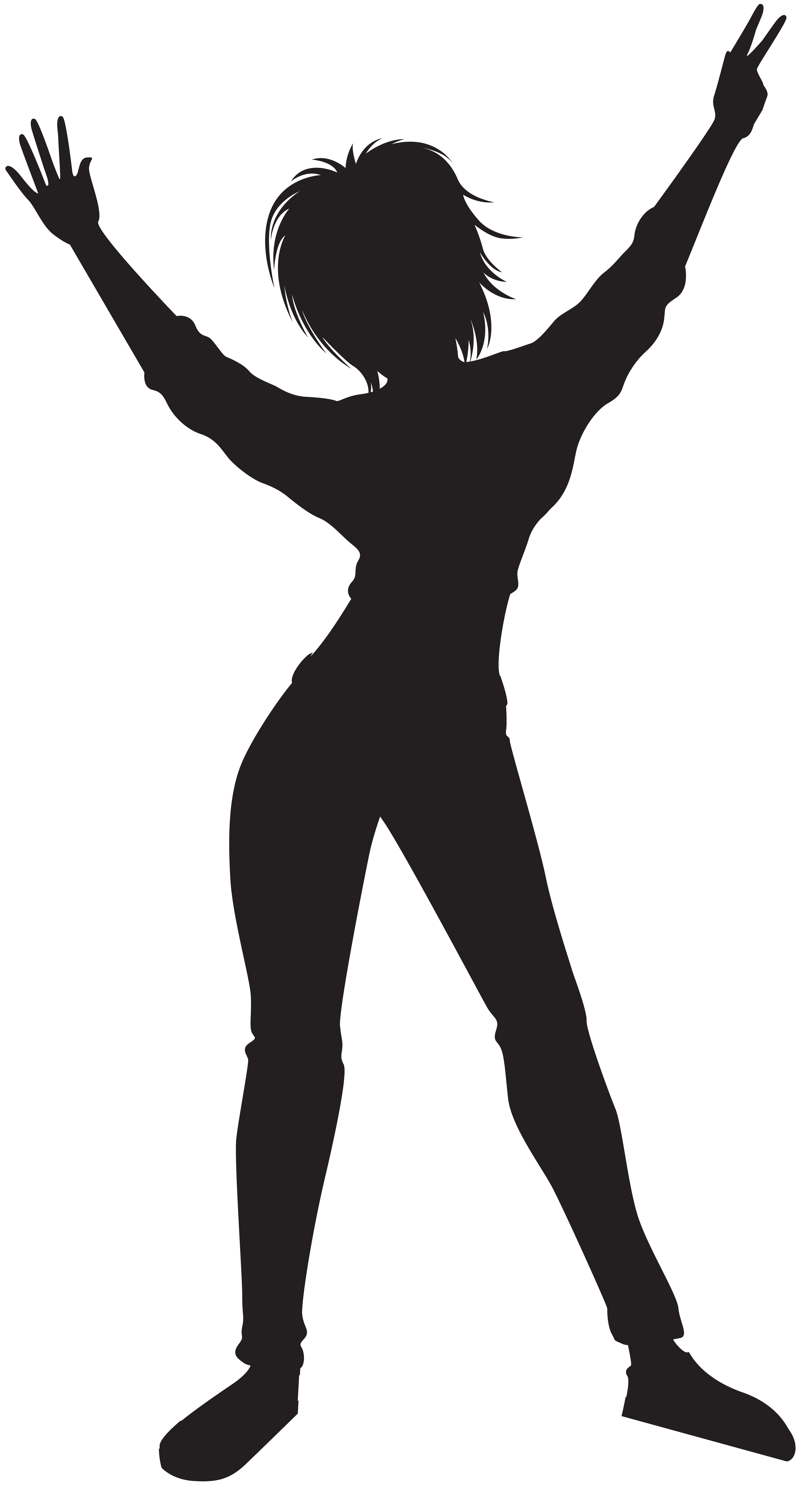 Hearts clipart dance. Dancing girl silhouette png