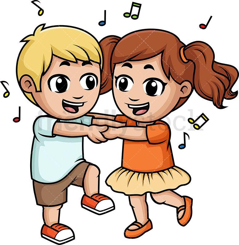 Dance clipart child dance. Children dancing together cartoons