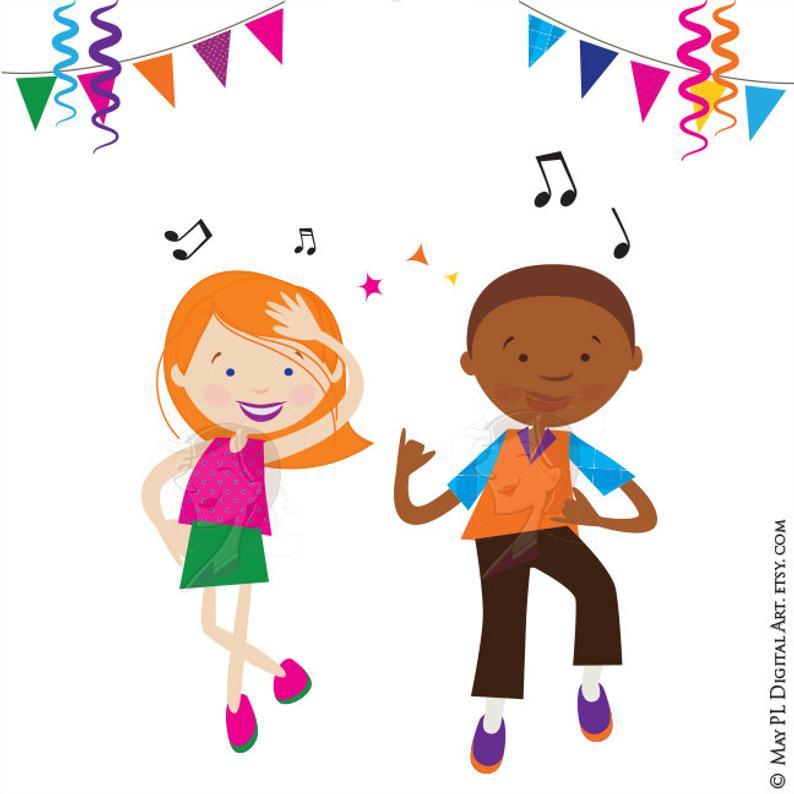 Dance party children boy. Disco clipart kids disco