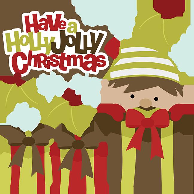 Have a jolly christmas. Holly clipart cute