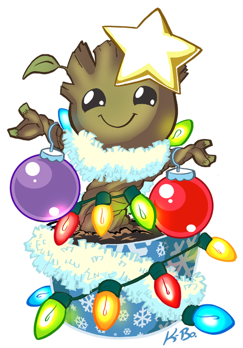Oh groot how lovely. Racoon clipart christmas