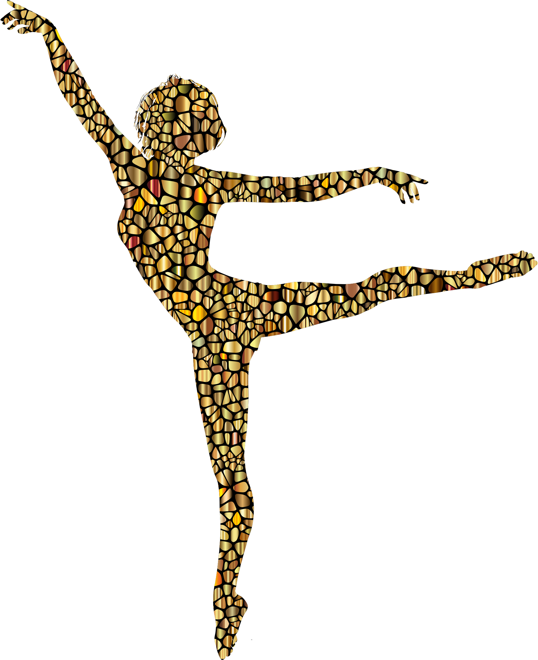 Dancing clipart colorful. Polychromatic tiled lithe woman