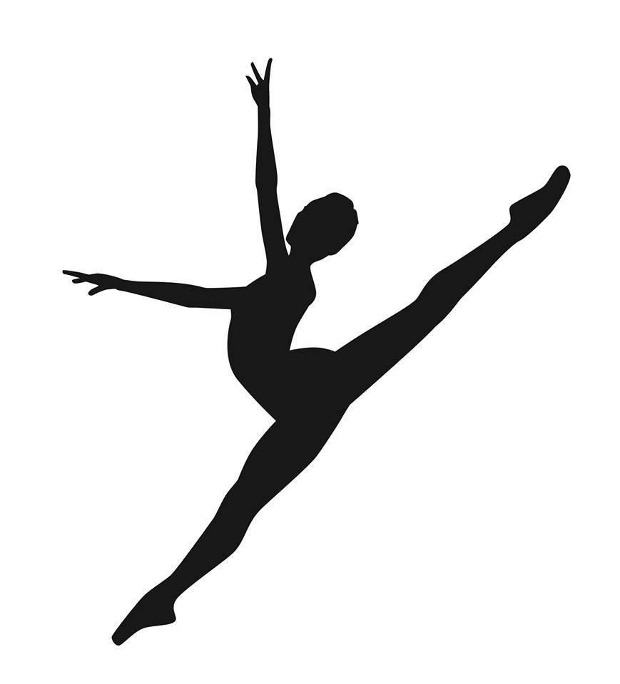 Modern silhouette ballet . Dancer clipart contemporary dance