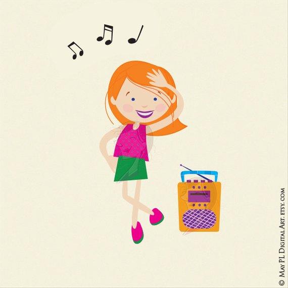 Clipart dance cute. Disco kids party children