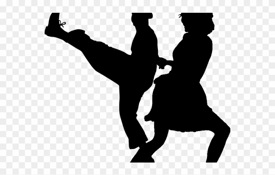 Clipart dance dance style. Tap transparent swing silhouette