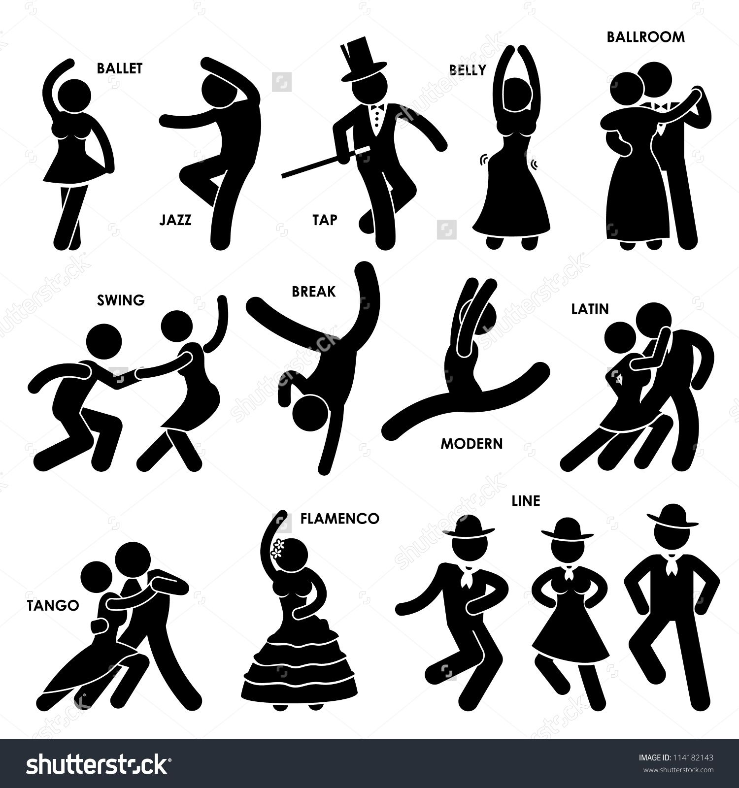 Clipart dance dance style. Moves staying fit dancing