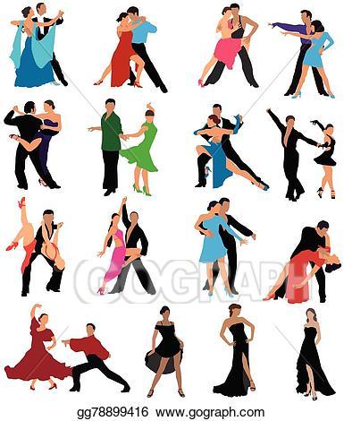 Vector illustration eps gg. Clipart dance dance style