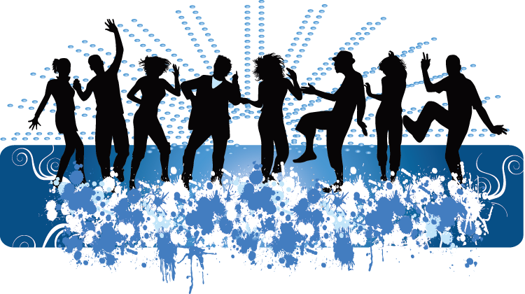 Dance middle school royalty. Community clipart silhouette