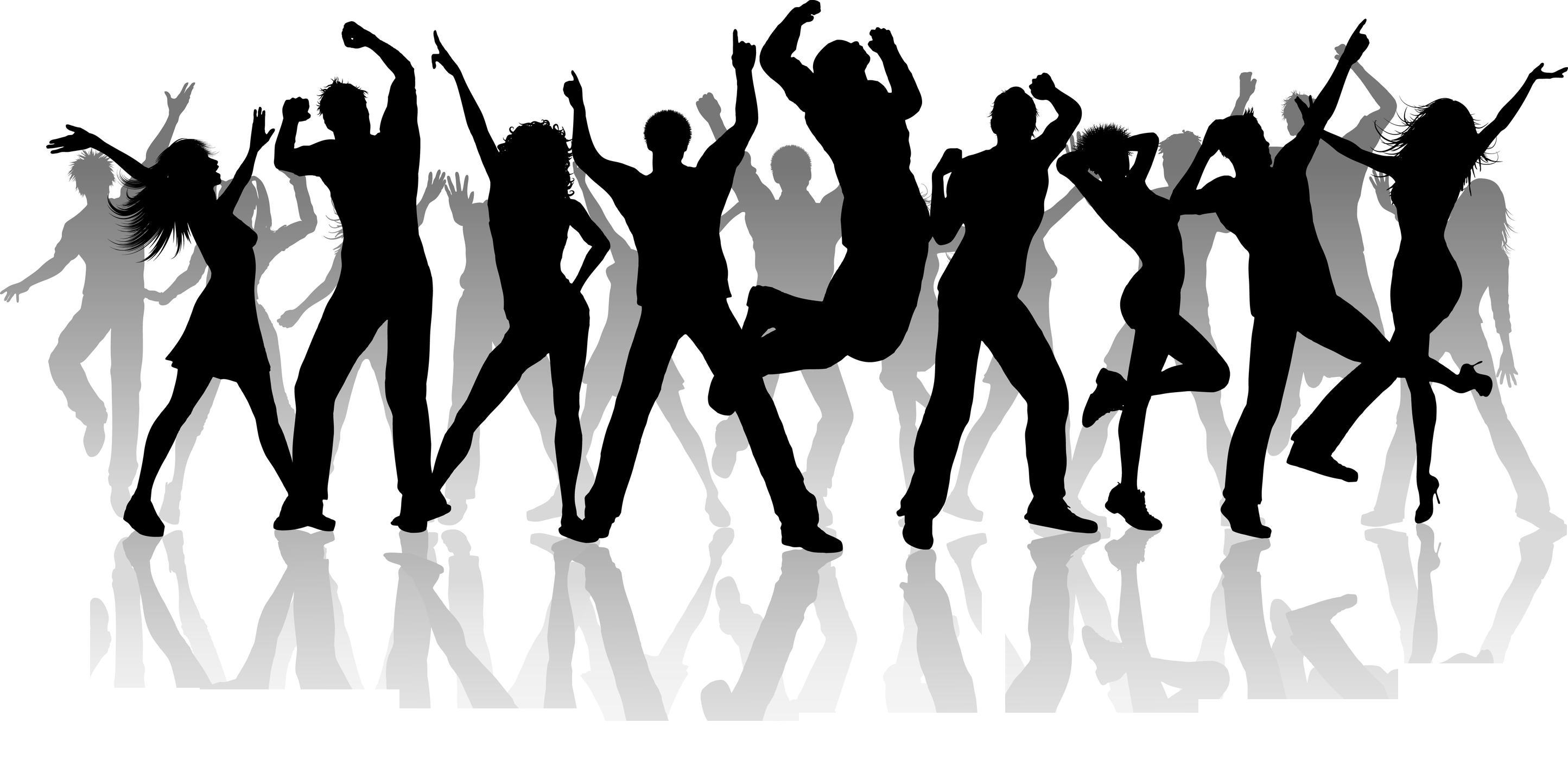 Dance clipart dance troupe. Group silhouette clip art