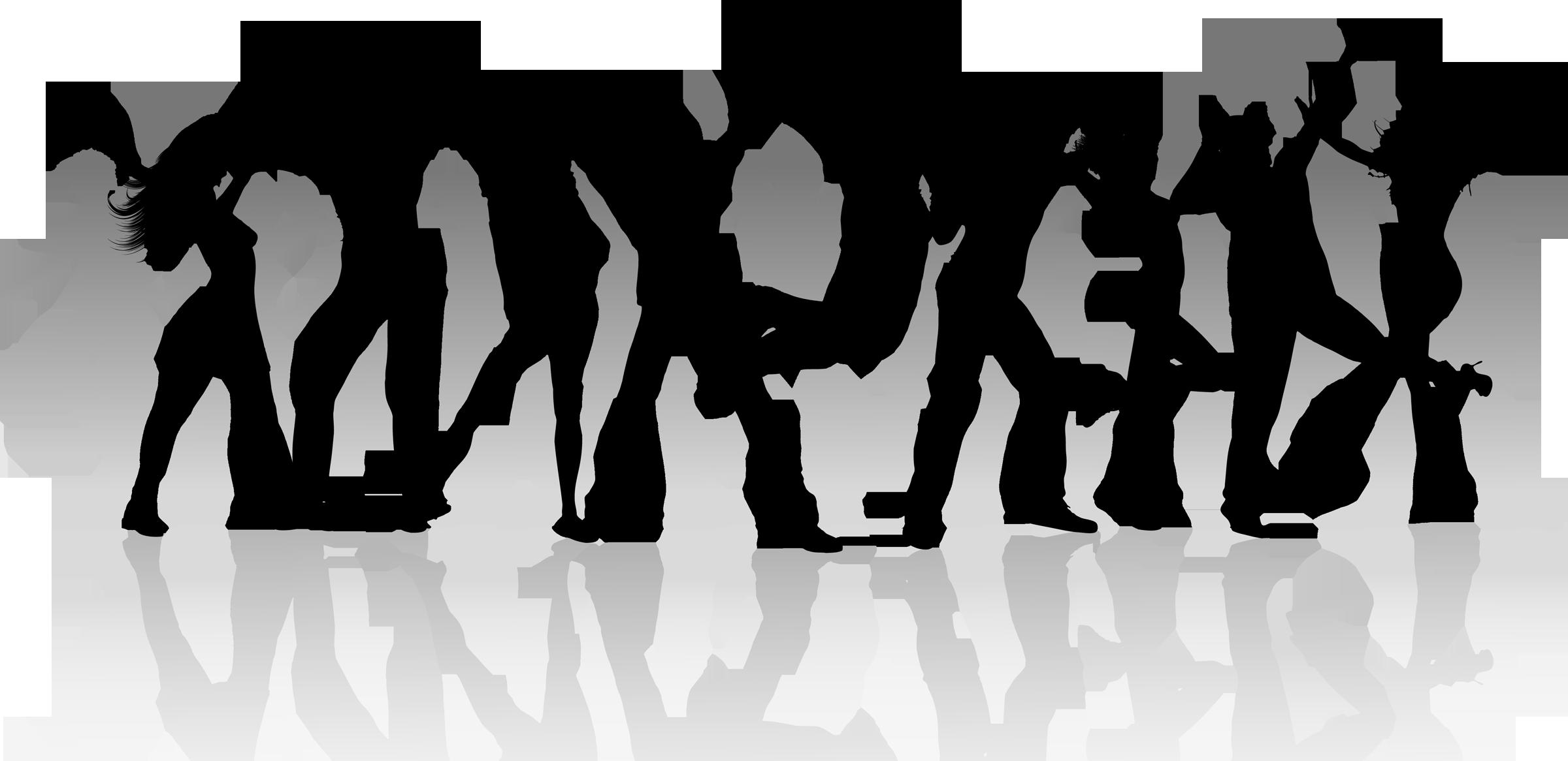 Group silhouette clip art. Dance clipart dance troupe