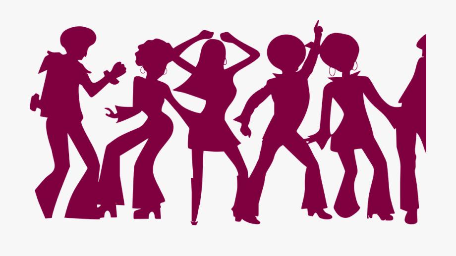 Dance clipart disco. People violet dancing party