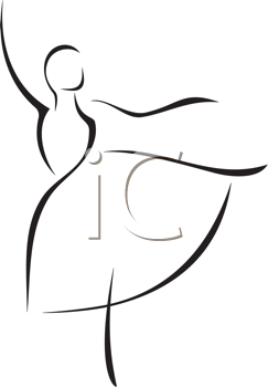 Dance clipart simple dance. Iclipart illustration of a