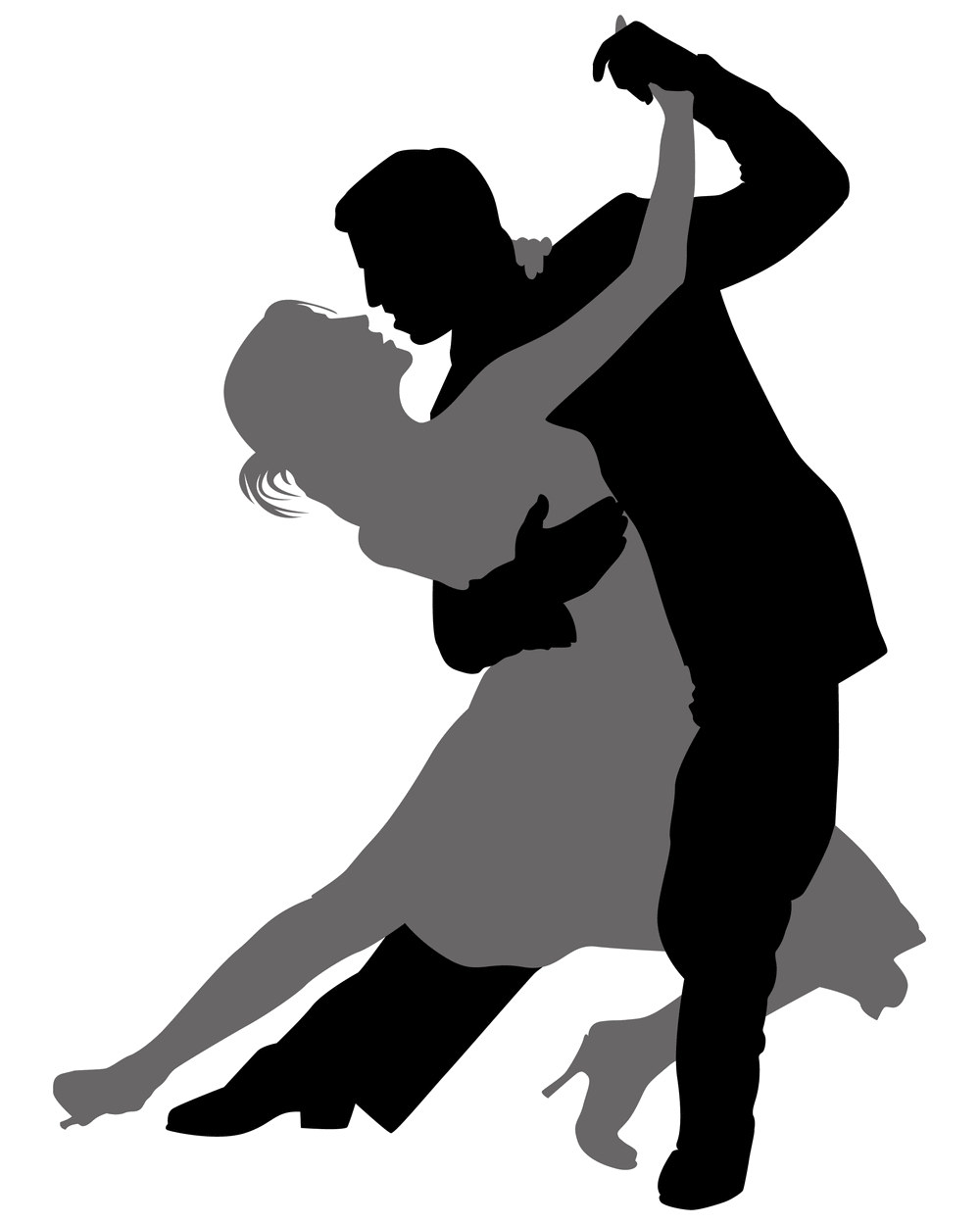Lady clipart dance. Cuba silhouette at getdrawings
