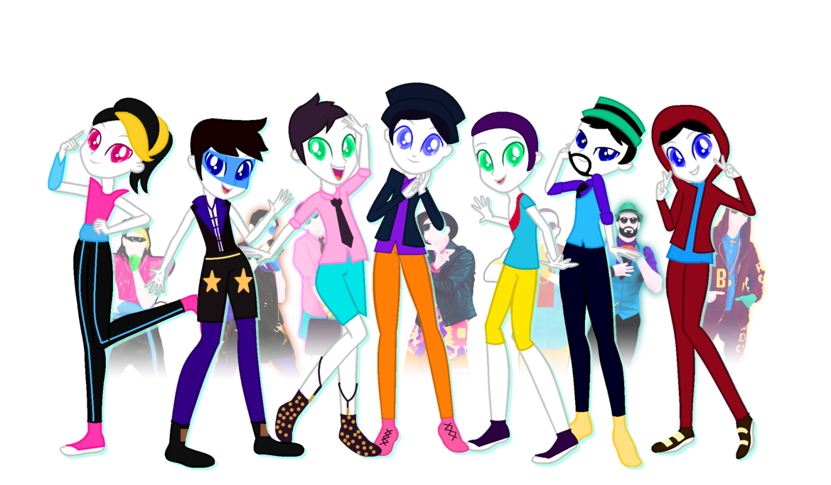 Just boys equestria girls. Clipart dance group dance